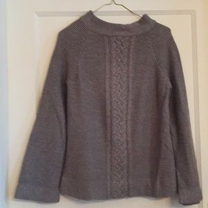 Gray funnel neck sweater Charter Club M